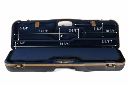 Negrini 1646LX-2F/4760 OU/SxS Deluxe Two Sporting Shotgun Takedown Shotgun Case - interior dimensions