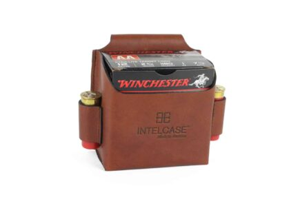INTELCASE Leather Single Box Shotshell Carrier