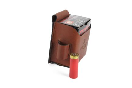 INTELCASE Leather Single Box Shotshell Carrier side loops