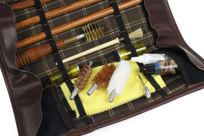 INTELCASE Leather Wood Rod Kit bits