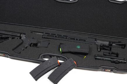 Negrini 1607R-TAC/4880 AR-15 Tactical Rifle Case - close up of AR-15 interior