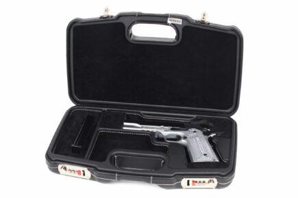 Negrini Model 1911 Luxury Leather Handgun Case - 2018SPLX/6034 - Model 1911 Handgun