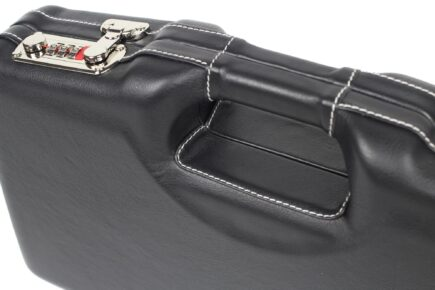 Negrini Model 1911 Luxury Leather Handgun Case - 2018SPLX/6034 - exterior closeup