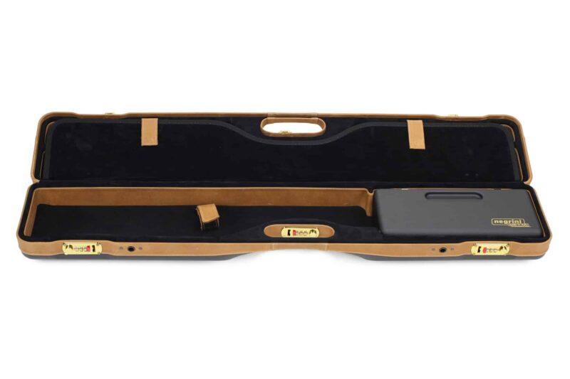 Negrini PLX Leather OU/SXS/Auto/Pump UNICASE Travel Shotgun Case - 16406PLX-UNI/5903 interior