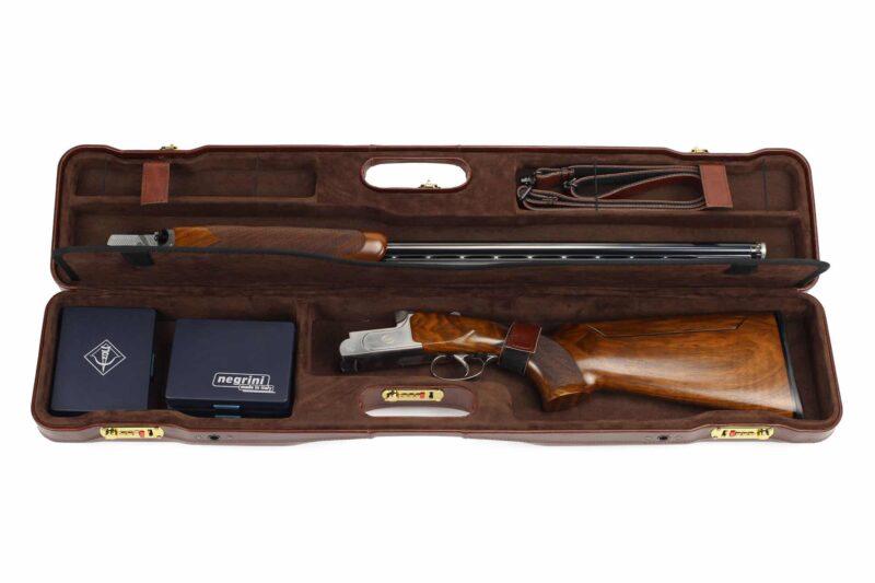 Negrini OU/SxS Italian Leather Compact Sporter Shotgun Case - 16407PL Zoli Z-Sport Shotgun