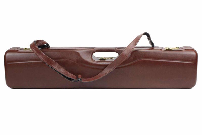 Negrini OU/SxS Italian Leather Compact Sporter Shotgun Case - 16407PL