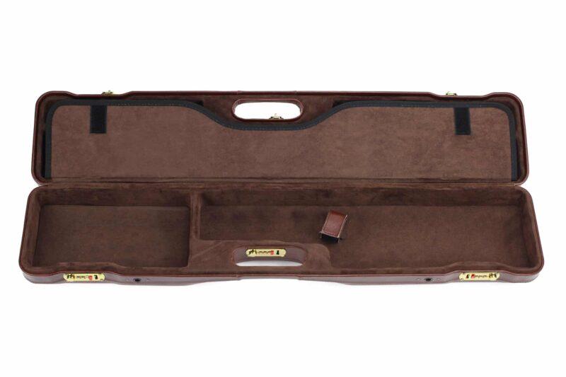 Negrini OU/SxS Italian Leather Compact Sporter Shotgun Case - 16407PL interior bottom