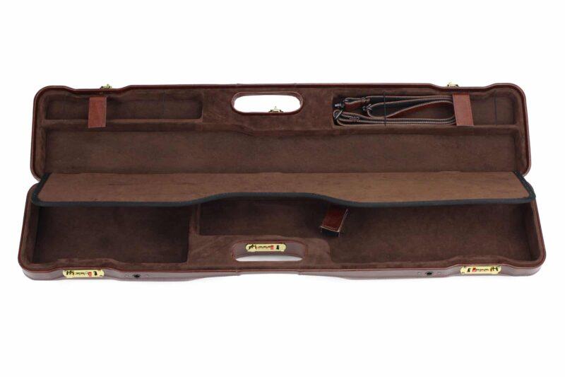 Negrini OU/SxS Italian Leather Compact Sporter Shotgun Case - 16407PL interior top